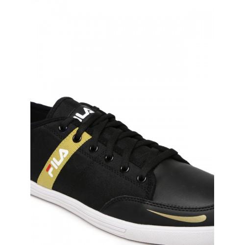 Buy FILA Men Black Solid Regular Destroy IV Sneakers online