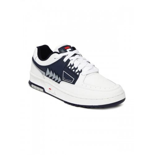 de5645cd693b Buy FILA White   Navy Tourissimo Low Leather Sneakers online ...