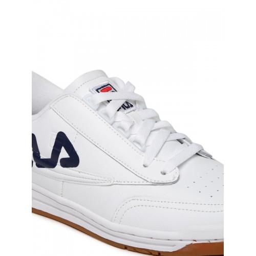 e8f7cc5faf6e2f Buy FILA Men White Perforations ORIGINAL TENNIS LOGO Sneakers online ...