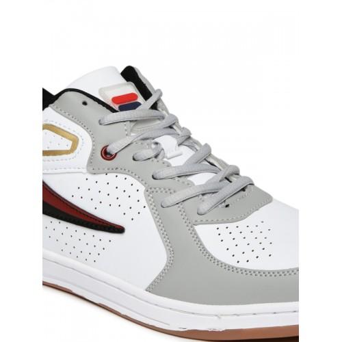 Buy FILA Men White \u0026 Grey Colourblocked