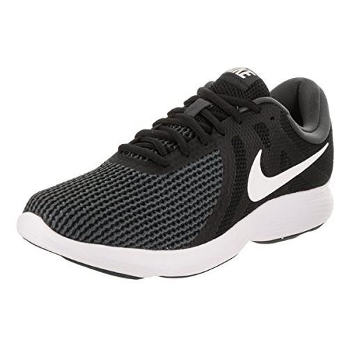 ... Nike Black Lace Up Men's Revolution 4 Running Shoes ...