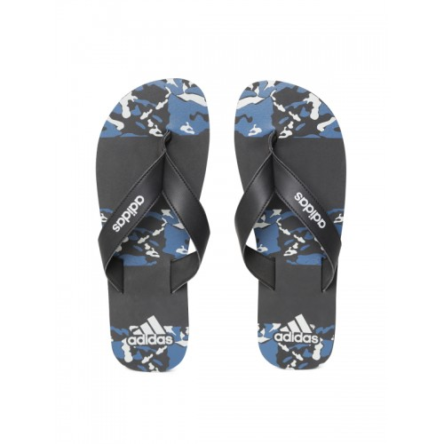 e559e09c4ae199 Buy Adidas Men Black   Blue Laken Printed Thong Flip-Flops online ...