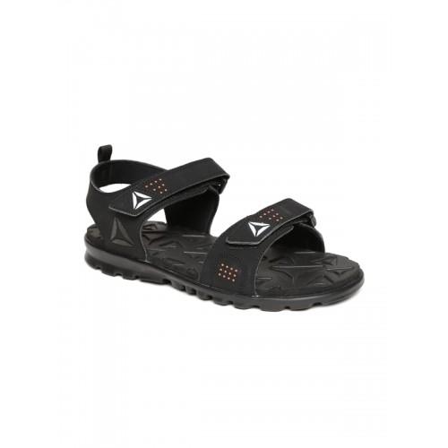 Buy Reebok Men Black Synthetic Royal Flex Sports Sandals online ... b93fbae87