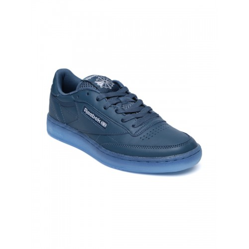 578ac6c8b664 Buy Reebok Men Blue Solid Club C 85 Ice Regular Sneakers online ...