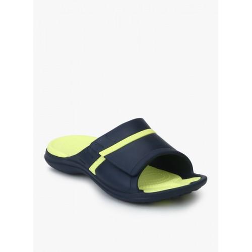 8d7f7c48c6c839 Buy Crocs Navy Blue Rubber Slip-on Flip Flops online