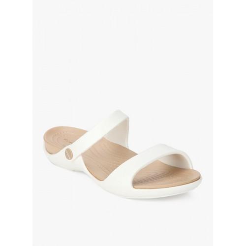 5fc17913d997 Buy Crocs Cleo V White Sandals online