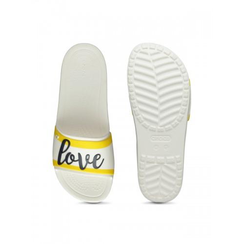 Crocs Drew X Sloane Grph Sld W White Sandals