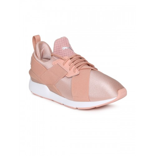 41e1abadb6cf02 Buy Puma Women Pink Muse Satin EP Sneakers online