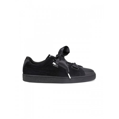 official photos 22756 8e39b Buy Puma Women Black Suede Heart Bubble Sneakers online ...