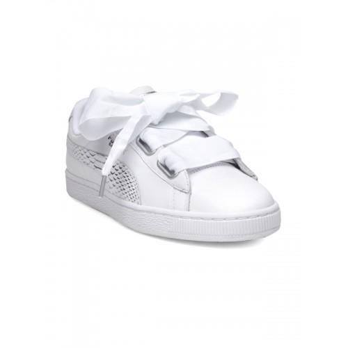 lowest price 96e00 a1da6 Buy Puma Women White Basket Heart Oceanaire Sneakers online ...