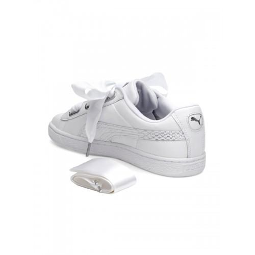 lowest price af8e3 e7817 Buy Puma Women White Basket Heart Oceanaire Sneakers online ...