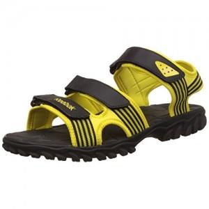 c21c47c25e110 Reebok Black   Yellow Supreme Connect Athletic   Outdoor Sandals