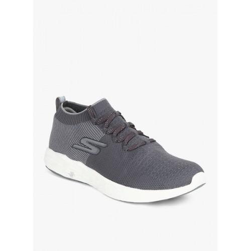 Skechers Go Run 6 Grey Running Shoes