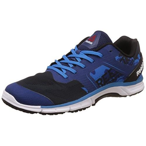 Reebok Run Sierra Black & Blue Mesh Running Shoes