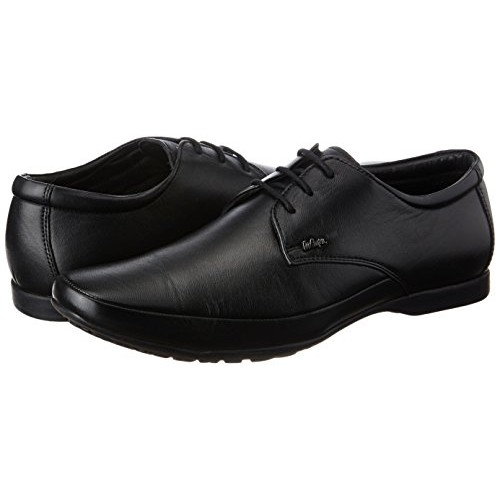 Lee Cooper Black Leather Men's Formal Shoes