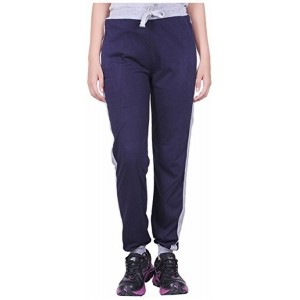 DFH Women's Relaxed Fit Navy Blue Track Pants