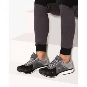 Seven Zeus Black Running Shoes For Men