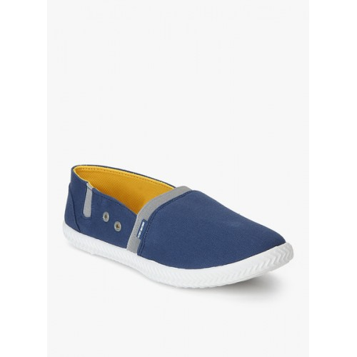 d07d9ae820c Buy Flying Machine Triston Blue Canvas Loafers online