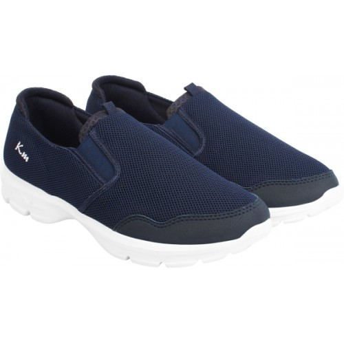 Blue Synthetic Slip-On Casual Shoes