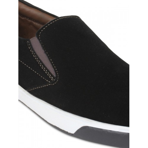 Guava Canvas Casual Loafers - Black