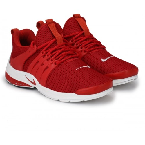 Afrojack Nitro Red Mesh Lace Up Running Shoes