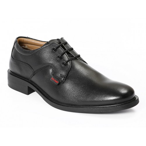 Red Chief Black Men Derby Formal Leather Shoes (RC2282 001)