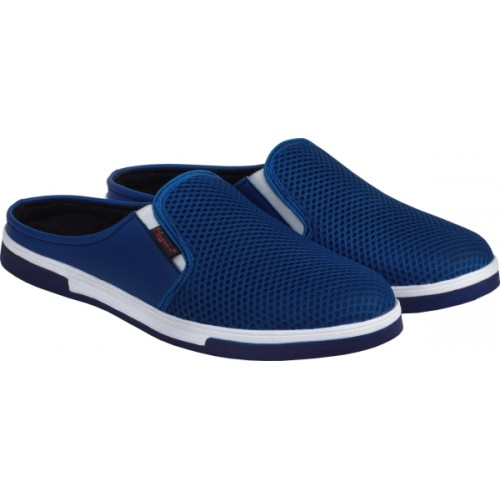 Magnolia Blue Mesh Slip On Clogs Casuals For Men
