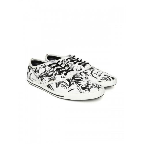 cd2092cc388e4c Buy Jack & Jones Men White Printed Casual Shoes online | Looksgud.in