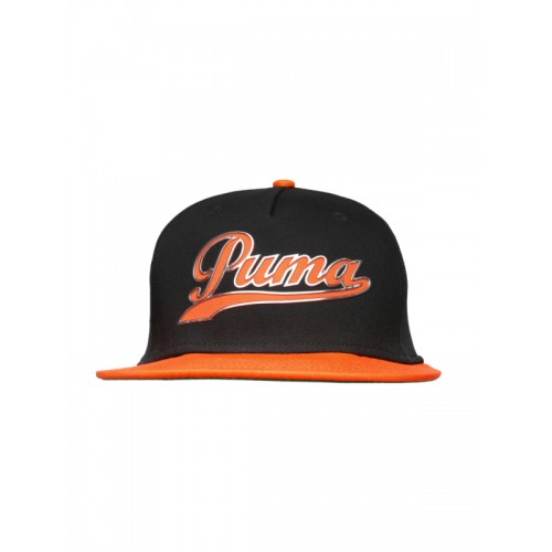 ... Snapback Cap  PUMA Unisex Black   Orange Script Snapback ... 57a705168d8