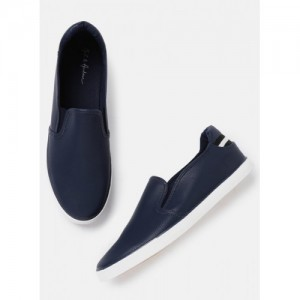 Mast & Harbour Men Navy Blue Slip-On Casual Shoes