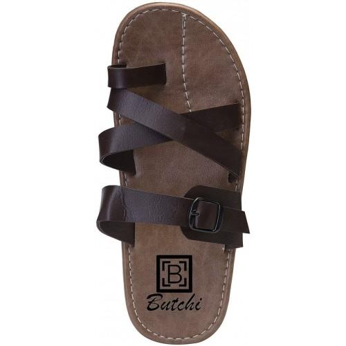 Butchi Men Brown Sandals