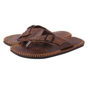 buy lee cooper men's leather flip flops chappals online