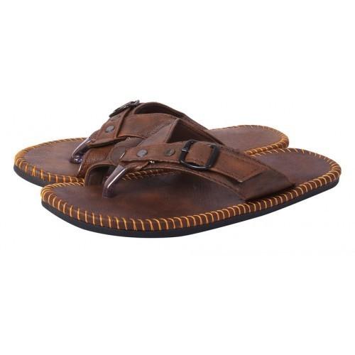 Butchi Men Brown Slip On Sandal