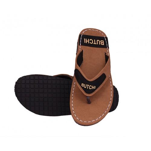 Butchi Men Tan Slippers