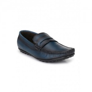 El Paso Men's Blue Genuine Leather Casual Loafer Shoes