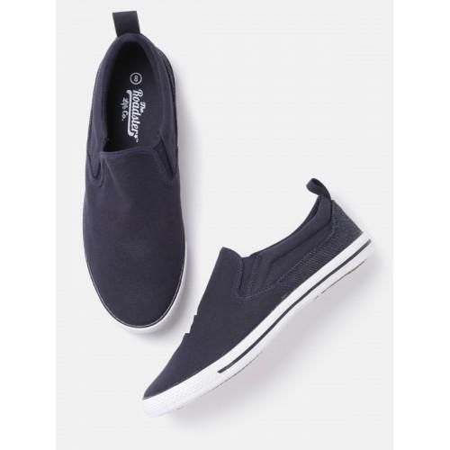 ... Roadster Men Navy Blue Slip-On Casual Shoes ...