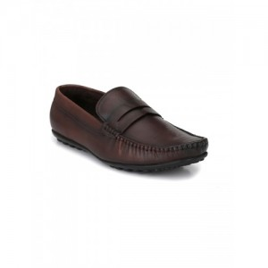 El Paso Brown Leather Men Loafers