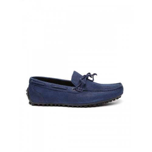 f66235a2d16 Buy WROGN Navy Blue Men Driving Shoes online