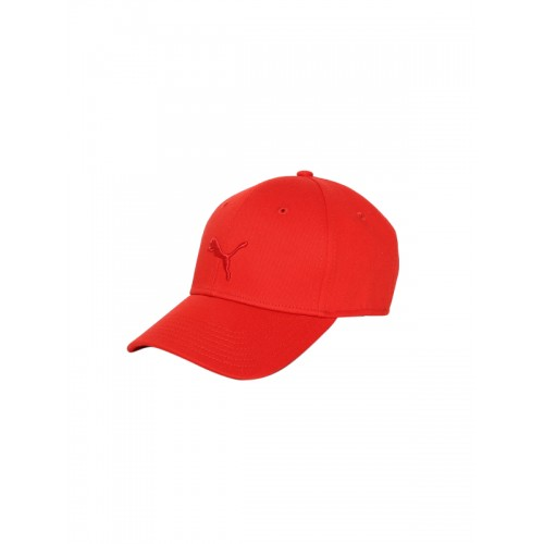 new products b5e00 bf581 ... Puma Unisex Red Solid Stretchfit BB cat Baseball Cap ...