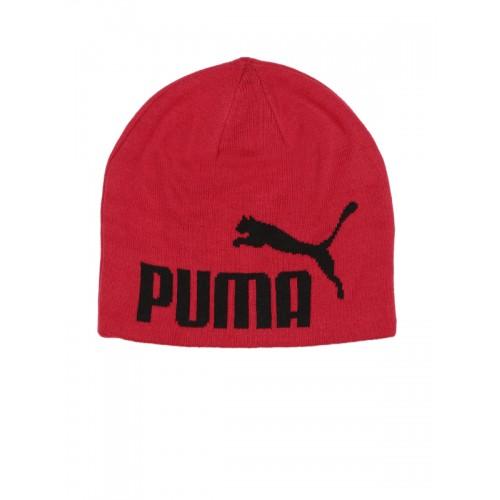huge discount 85893 0b909 ... Puma Unisex Red ESS Big Cat Beanie ...