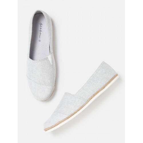 b3adc83d9 Buy Mast & Harbour Men Grey Melange Espadrilles Casual Shoes online ...
