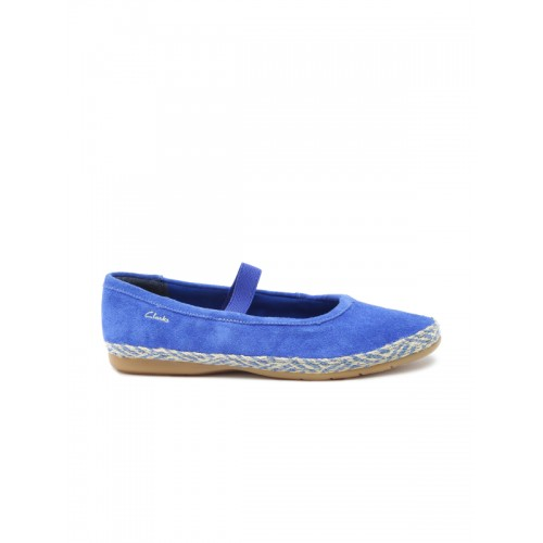 Clarks Blue Synthetic Belly Shoes