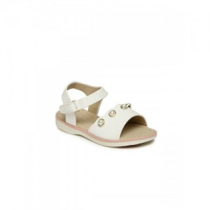 Fame Forever by Lifestyle Girls White Embellished Comfort Sandals