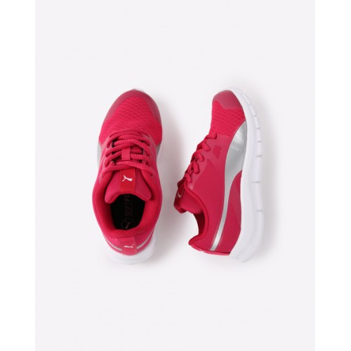 Puma Puma Flexracer DP Knockout Pink & White Running Shoes
