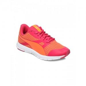 Puma Unisex Orange & Pink Flexracer Material G Running Shoes