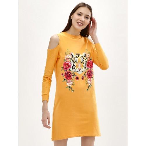 Evah London Tiger Print Sweat Dress