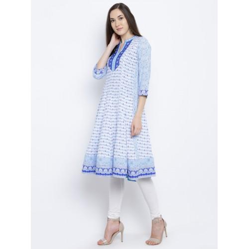 Rangriti Blue Printed Kurta