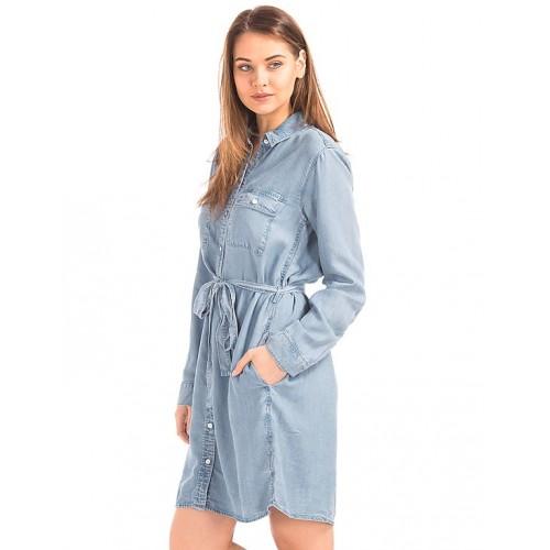 900e59bcb0f Buy GAP Tencel Denim Tie Belt Shirt Dress online