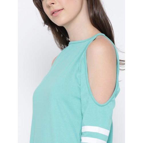 Miss Chase Mint Cotton Shift Dress