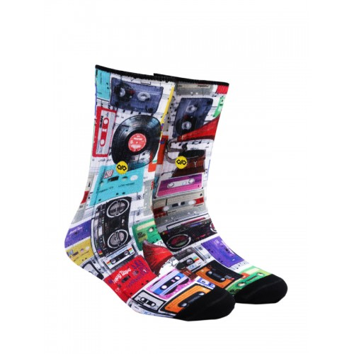 Dynamocks Cassettes Men & Women Crew Length Socks